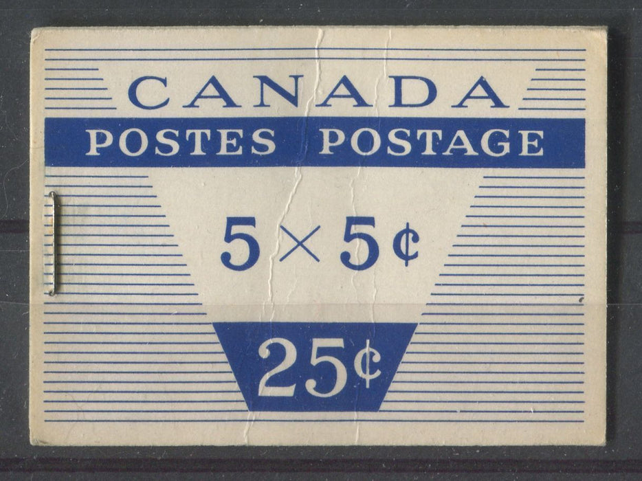 Canada #BK49m (SG#SB53) Wilding Issue 25c Booklet Containing 5c x 5 Cover Type 2 DF GW Cover/DF Gr. Pane F-71 NH Brixton Chrome