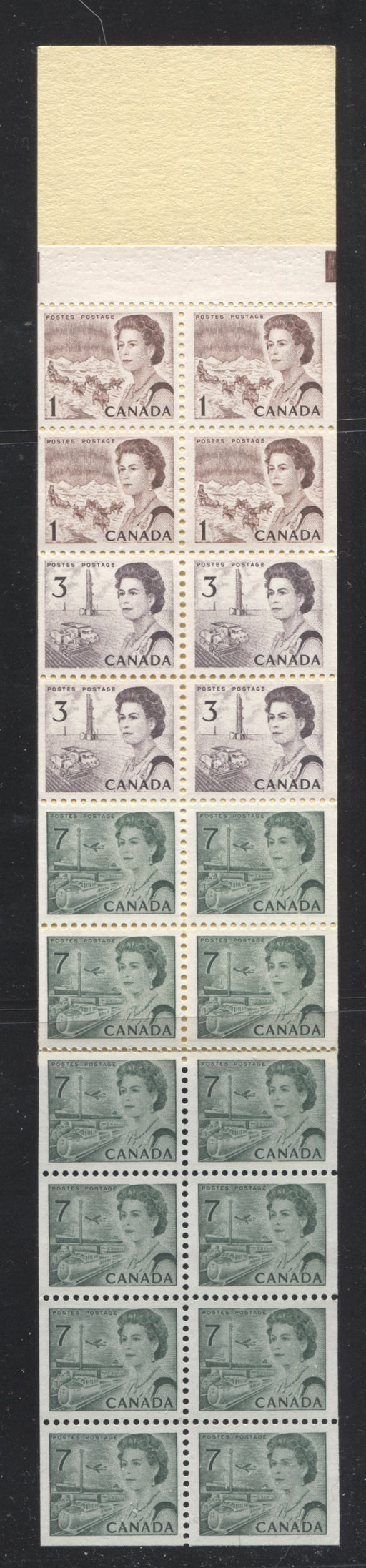 Canada #BK67 1967-1973 Centennial Issue, Complete $1 Counter Booklet, Horizontal Wove Paper, Dull Paper Brixton Chrome VF-75
