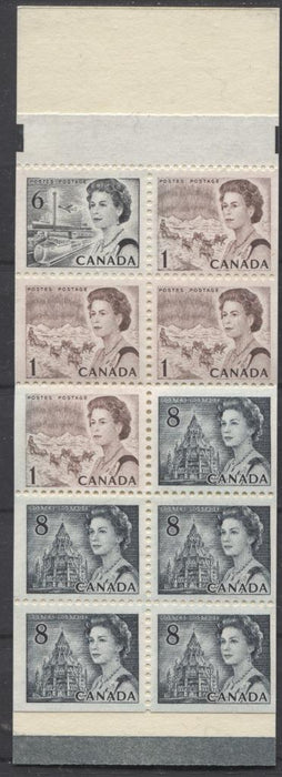 Canada #BK71a (SG#SB79) 50c Centennial Booklet LeMay Sketch LF Paper Type 5 Black Sealing Strip VF-75 NH Brixton Chrome