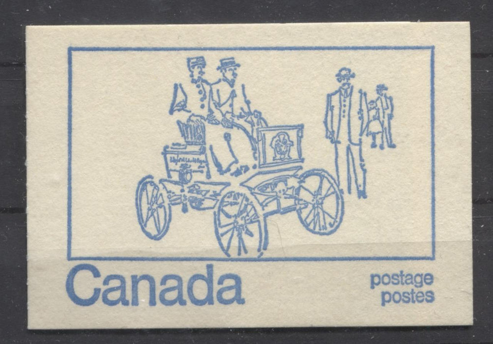 Canada #BK71a (SG#SB79) 50c Centennial Booklet Motor Car LF Paper Type 5 Black Sealing Strip VF-75 Brixton Chrome