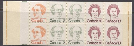 Canada #BK76l (SG#SB82) 50c 1972-1978 Caricature Issue Booklet Burgess Faint & Clear Tagging Streaks F-70 NH Brixton Chrome