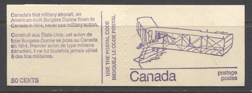 "Canada #BK76l (SG#SB82) 50c 1972-1978 Caricature Issue Booklet HB Burgess Cover Broken ""N"" NF/DF-fl F-70 NH Brixton Chrome"