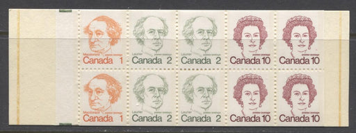 Canada #BK76l (SG#SB82) 50c 1972-1978 Caricature Issue Booklet - HB Cover NF/DF-fl Pane Tab Tag Streak VF-84 NH Brixton Chrome