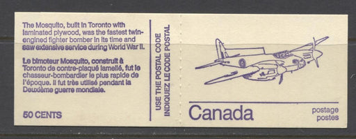 Canada #BK76l (SG#SB82) 50c 1972-1978 Caricature Issue Booklet - Mosquito HB Cover NF/DF-fl Tag Streaks F-70 NH Brixton Chrome