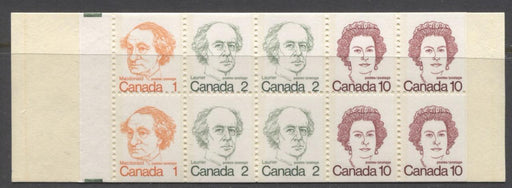 Canada #BK76l (SG#SB82) 50c 1972-1978 Caricature Issue Booklet - Nieuport HB Cover NF/DF-fl 2 Tag Streaks F-65 NH Brixton Chrome