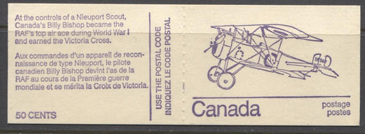 Canada #BK76l (SG#SB82) 50c 1972-1978 Caricature Issue Booklet - Nieuport HB Cover NF/DF-fl Tag Streak F-65 NH Brixton Chrome