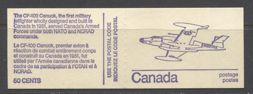 Canada #BK76l (SG#SB82) 50c 1972-1978 Caricature Issue Booklet - Tagging Streaks & 1 mm Right Tag Bar F-70 NH Brixton Chrome