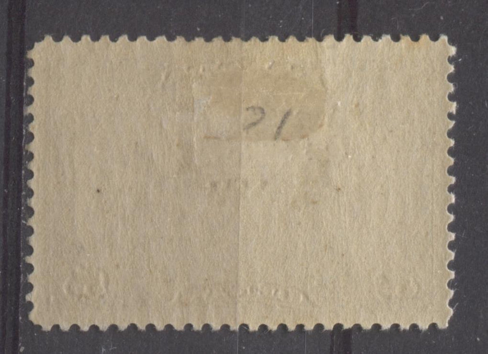 Canada #C1 (SG#274) 5c Olive Brown 1928 Scroll Issue Airmail Paper With No Mesh VF-80 OG HR Brixton Chrome