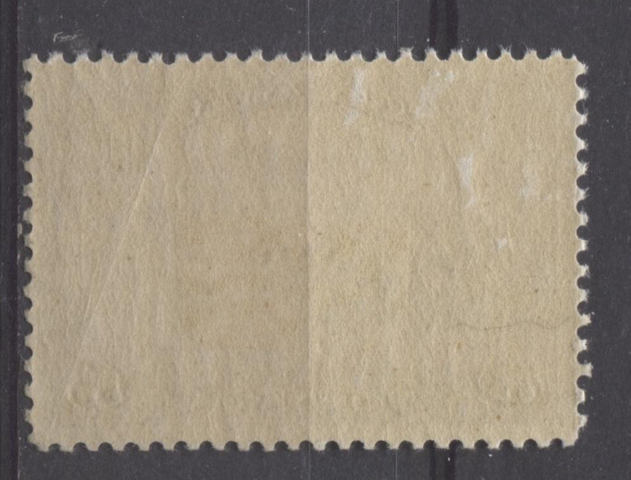 Canada #C1 (SG#274) 5c Olive Brown 1928 Scroll Issue Airmail Paper With No Mesh VF-84 OG Brixton Chrome