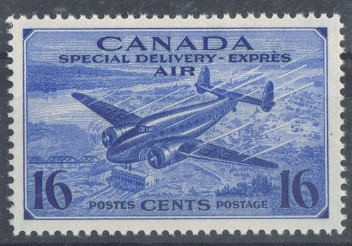 Canada #CE1 (SG#S13) 16c Bright Ultramarine 1942-43 Airmail Special Delivery VF-80 NH Brixton Chrome