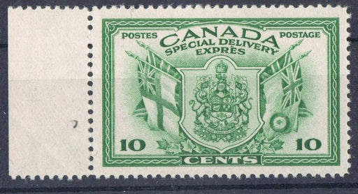 Canada #E10 (SG#S12) 10c Green 1942 War Issue Special Delivery Cream Gum VF-80 NH Brixton Chrome