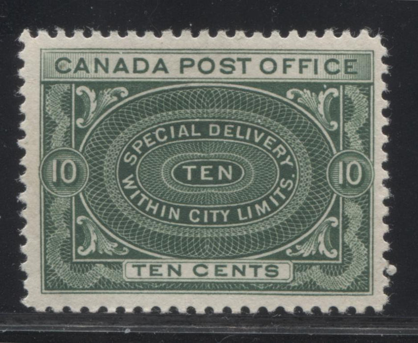 Canada #E1a 10c Deep Green, 1898-1922 Special Delivery Issue, A Very Fine Mint Example Brixton Chrome