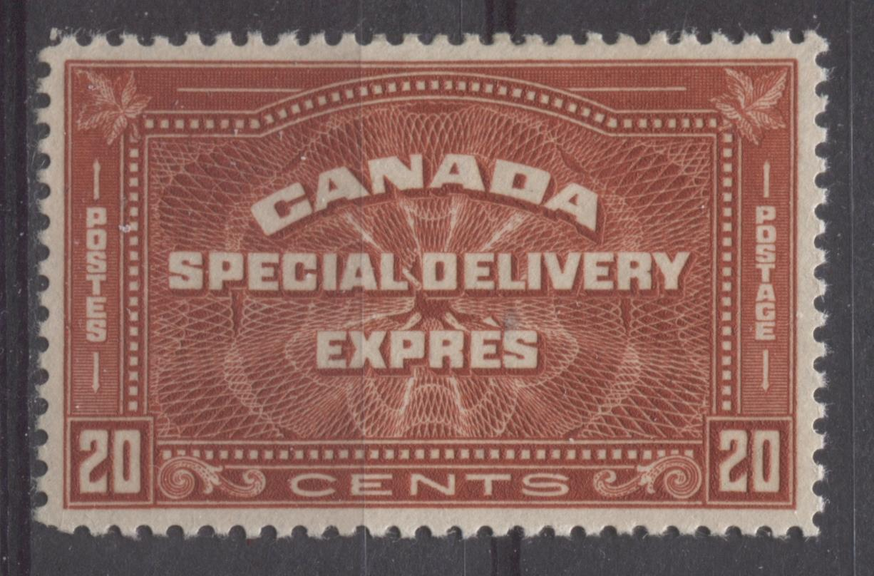 Canada #E5 (SG#S7) 20c Deep Brownish Vermilion 1932-35 Medallion Issue SUP-98 LH Brixton Chrome