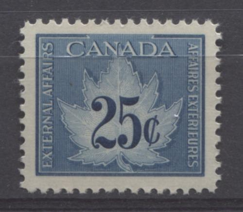 Canada #FCF1 25c Blue 1949 Consular Fee Stamp Yellowish Gum - VF-80 NH Brixton Chrome