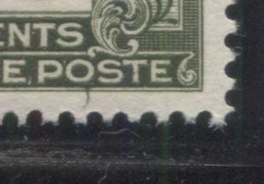 "Canada #FPS4 2c Deep Olive 1932-1948 First Postal Scrip Issue, A Very Fine NH Pair Showing a ""Comma Flaw"" on the Lower Frame of the Right Stamp Brixton Chrome"