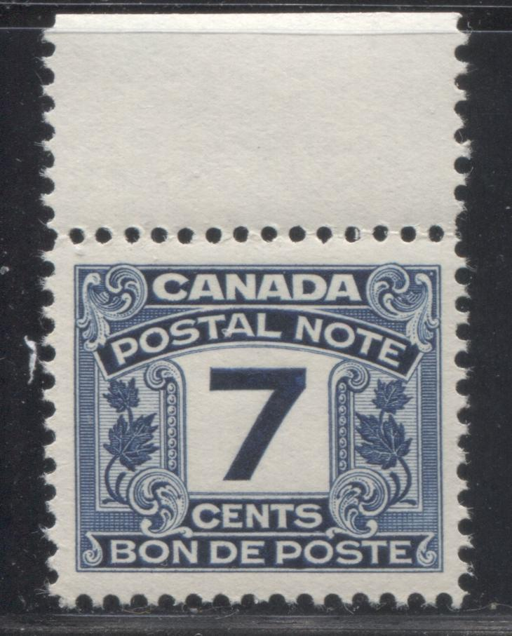 Canada #FPS9 7c Deep Blue 1932-1948 First Postal Scrip Issue, A Very Fine Mint NH Example Brixton Chrome