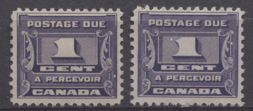 Canada #J11 (SG#D14) 1c Deep Bluish Lilac 1933-34 Third Postage Due 2 Different Gums F-70 OG Brixton Chrome