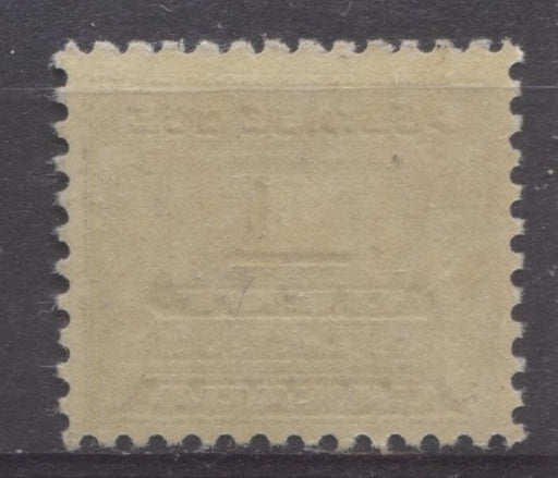 Canada #J11 (SG#D14) 1c Deep Bluish Lilac 1933-34 Third Postage Due Cream Gum F-70 NH Brixton Chrome