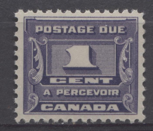 Canada #J11 (SG#D14) 1c Deep Bluish Lilac 1933-34 Third Postage Due Cream Gum VF-80 NH Brixton Chrome
