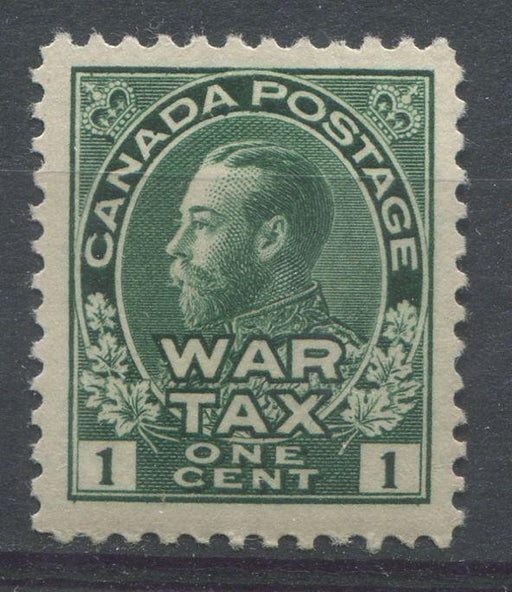 Canada #MR1 (SG#228) Dark Myrtle Green 1911-27 Admiral War Tax Stamp VF-80 OG Brixton Chrome