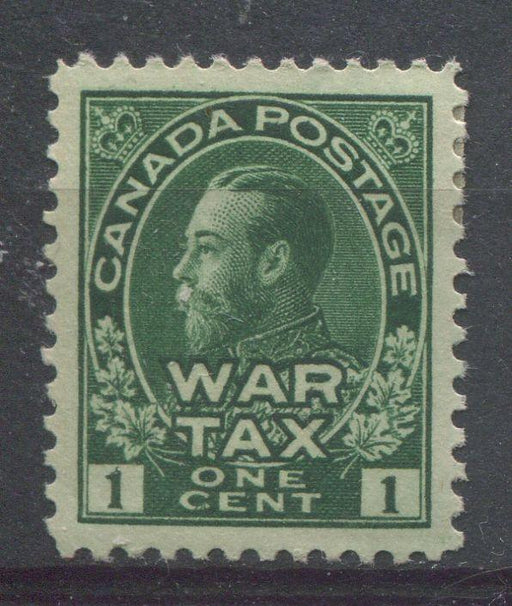 Canada #MR1 (SG#228) Deep Myrtle Green 1911-27 Admiral War Tax Stamp VF-84 OG HR Brixton Chrome