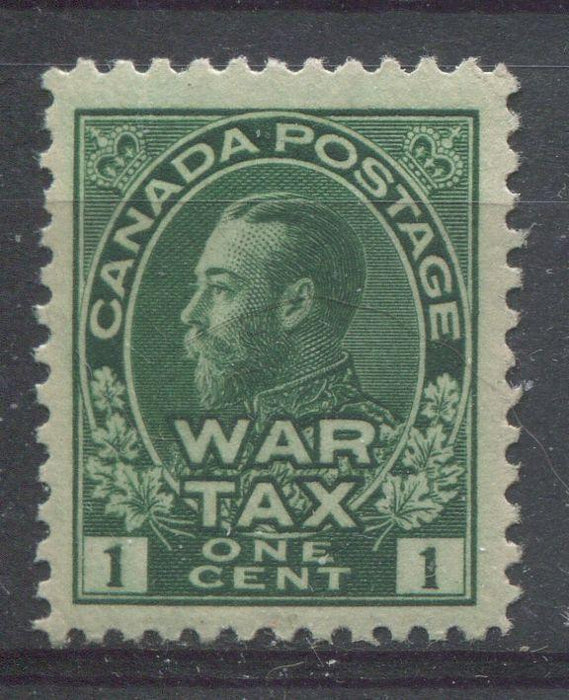 Canada #MR1 (SG#228) Myrtle Green 1911-27 Admiral War Tax Stamp VF-76 NH Brixton Chrome
