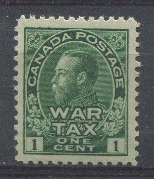 Canada #MR1 (SG#228) Myrtle Green 1911-27 Admiral War Tax Stamp VF-80 OG Brixton Chrome