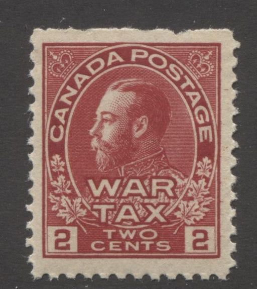 Canada #MR2 (SG#229) 2c Deep Rose Red 1915 Admiral War Tax Issue Fine Mesh Paper VF-75 NH Brixton Chrome