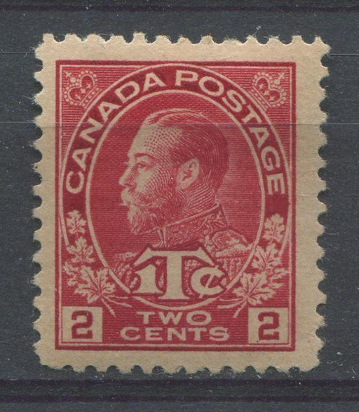Canada #MR3 (SG#231) 2+1c Deep Bright Rose Red 1915-1916 Admiral War Tax Stamp Die 1 VF-77 OG Brixton Chrome