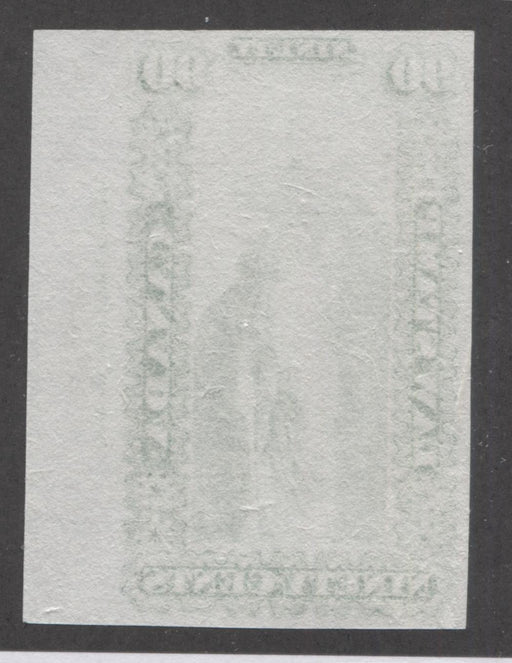 Canada #OL10P 90c Sap Green, Justice and Scales, 1864 Ontario Law Issue, Imprint Plate Proof on India Paper Brixton Chrome