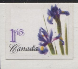 Canada #2082 $1.45 Purple Dutch Iris, 2004 Floral Definitives, a VFNH Booklet Single on Fasson Paper, Showing Double Print, Shiny Lacquer Tagging