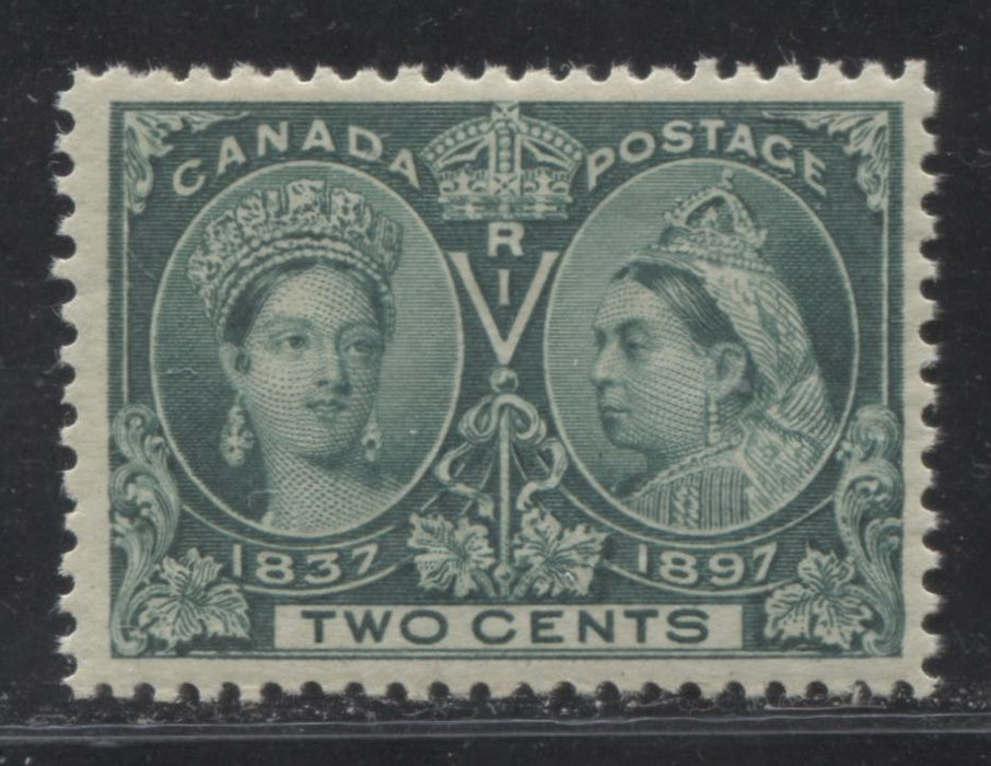 Canada #52i 2c Deep Green Queen Victoria, 1897 Diamond Jubilee Issue, A Fine NH Example