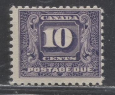 Canada #J10 10c Dark Violet 1930-1932 Second Postage Due Issue, A Fine Example