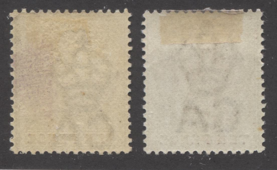 Lagos #37 10d Dull Mauve and Yellow Queen Victoria 1887-1902 Bicoloured Keyplate Issue, Two VF OG Mint Examples, Each From a Different Printing Brixton Chrome