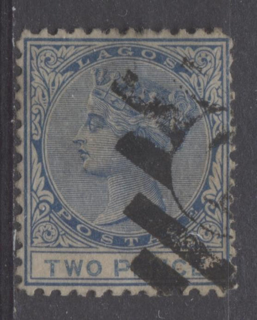 Lagos SG#2 2d Deep Dull Blue & Prussian Blue 4th Printing Crown CC Watermark Perf.12.5 F-65 Used Brixton Chrome
