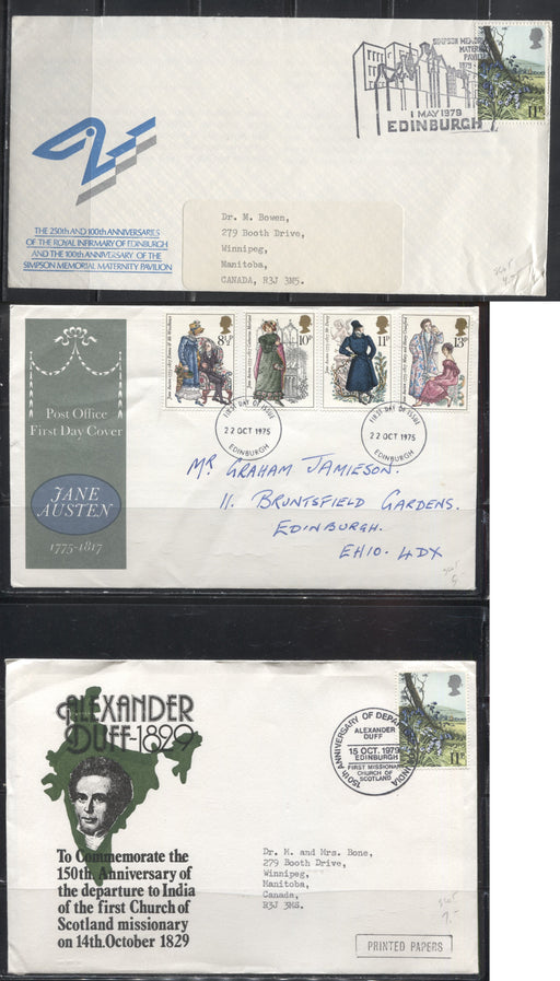 Great Britain - A Group of 9 Special Event and First Day Covers From 1974-1986