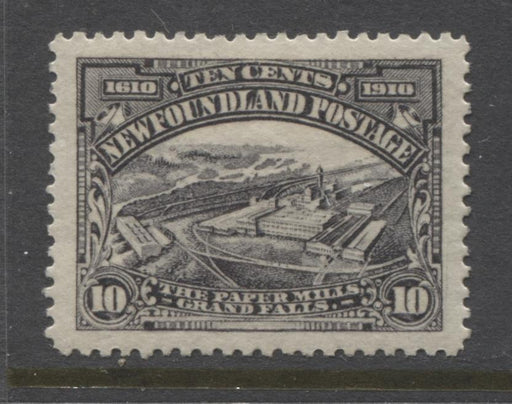 Newfoundland #101 (SG#114) 10c Violet Black Paper Mill 1911 Engraved Guy Issue VF-84 LH Brixton Chrome