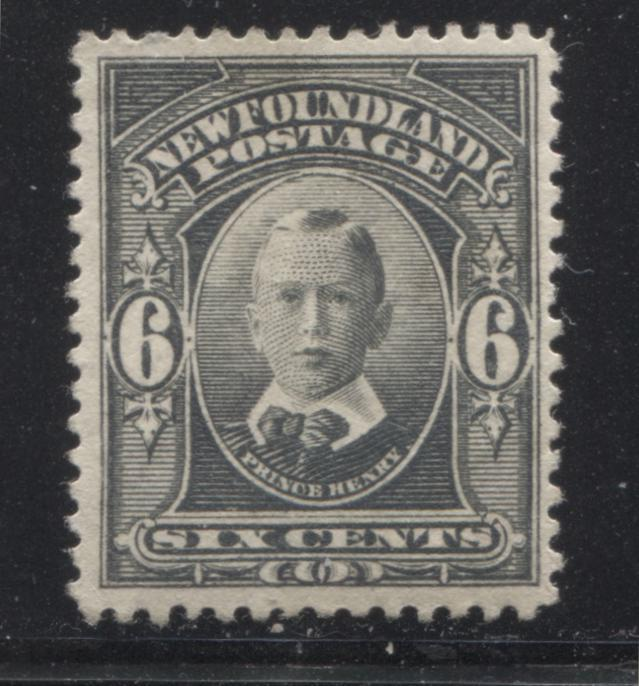 Newfoundland #109 6c Grey Prince Henry, 1910-1919 Royal Family Issue, A Very Fine OG Example Brixton Chrome