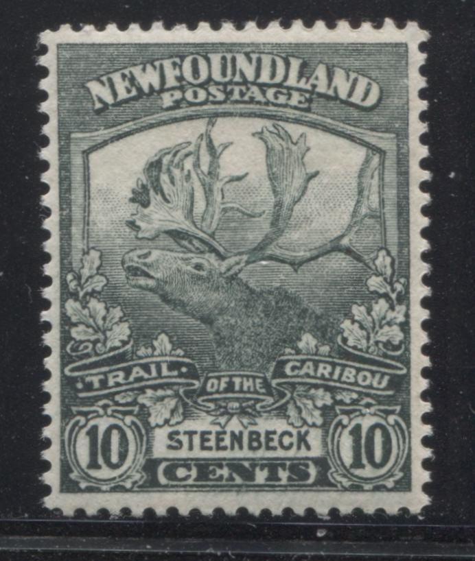 Newfoundland #122 10c Blackish Green Steenbeck, 1919-1923 Trail of the Caribou Issue, A Very Fine Mint NH Example Brixton Chrome
