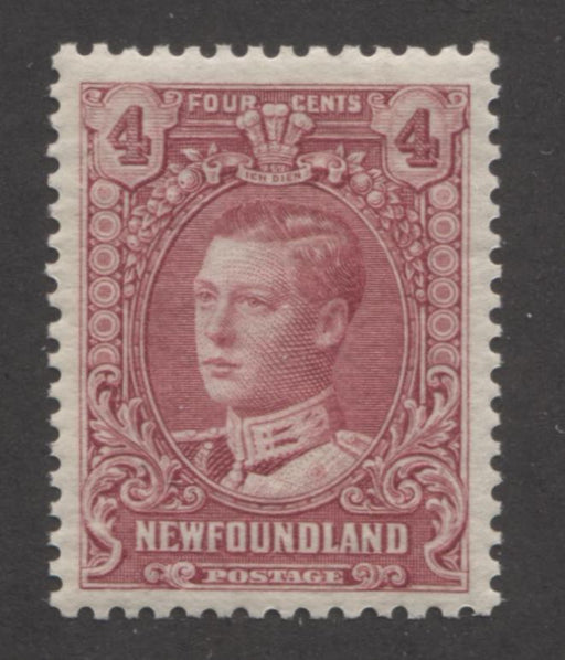 Newfoundland #148 4c Lilac Rose Prince of Wales 1928-1929 Publicity Issue, A Very Fine Mint NH Example of the Comb Perf. 13 x 13.5 Brixton Chrome