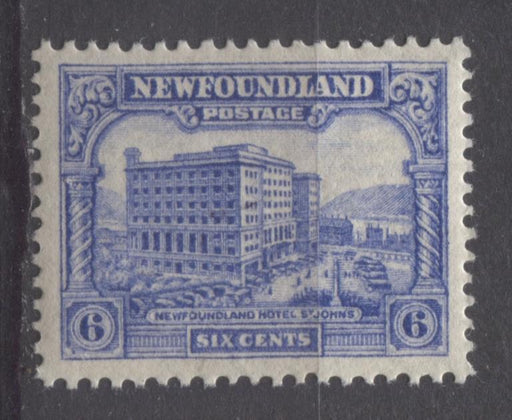 Newfoundland #177 (SG#203) 6c Ultramarine 1931 Publicity Watermarked Comb Perf.13.6 x 13.8 VF-84 NH Brixton Chrome