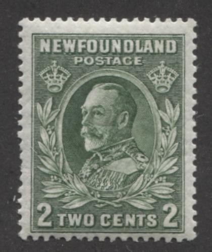 Newfoundland #186 (SG#223) 2c Deep Yellowish Green Die 1 1932-37 Resources Issue F-65 NH Brixton Chrome