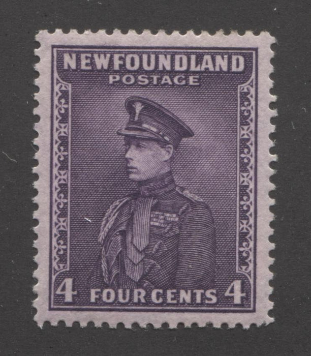 Newfoundland #188 (SG#212) 4c Deep Reddish Lilac Prince of Wales 1932-37 Resources Issue, Very Fine Mint, Comb Perf. 13.7 x 13.5 Brixton Chrome