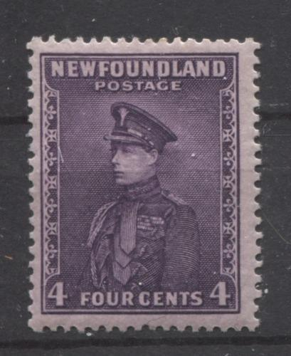 Newfoundland #188 (SG#212) 4c Deep Reddish Lilac Prince of Wales 1932-37 Resources Issue VF-75 OG Brixton Chrome