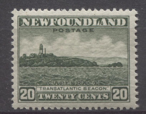 Newfoundland #196 (SG#218) 20c Deep Green Cape Race 1932-37 Resources Issue VF-84 OG Brixton Chrome