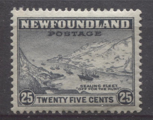 Newfoundland #197 (SG#219) 25c Slate Sealing Fleet 1932-37 Resources Issue VF-80 OG Brixton Chrome