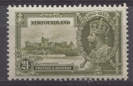 Newfoundland #229 (SG#253) 24c Deep Yellow Olive 1935 Silver Jubilee VF-75 NH Brixton Chrome