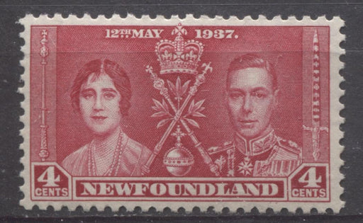 Newfoundland #231 (SG#255) 4c Rose Red 1937 Coronation Issue VF-80 NH Brixton Chrome