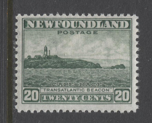 Newfoundland #263 (SG#286) 20c Deep Bright Green 1941 Resources Issue Perf. 12.6 VF-75 NH Brixton Chrome