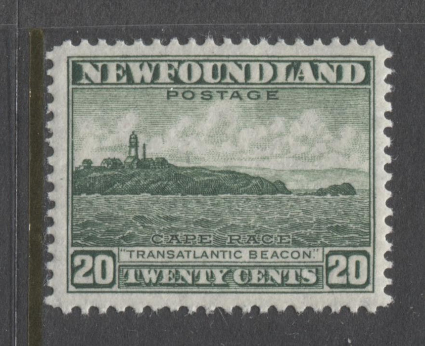 Newfoundland #263 (SG#286) 20c Deep Bright Green 1941 Resources Issue Perf. 12.6 VF-80 NH Brixton Chrome